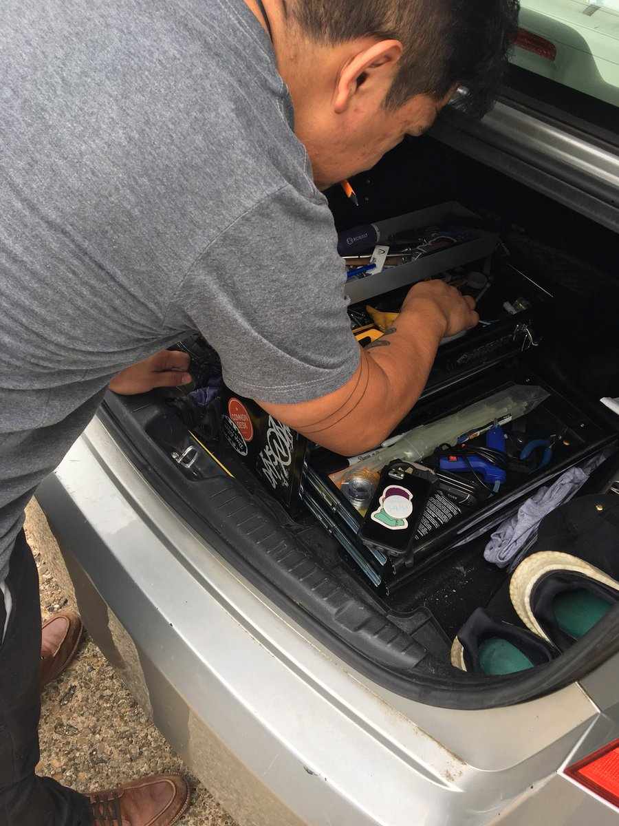 My best friend Julio is so Mexican he keeps a toolbox in his car