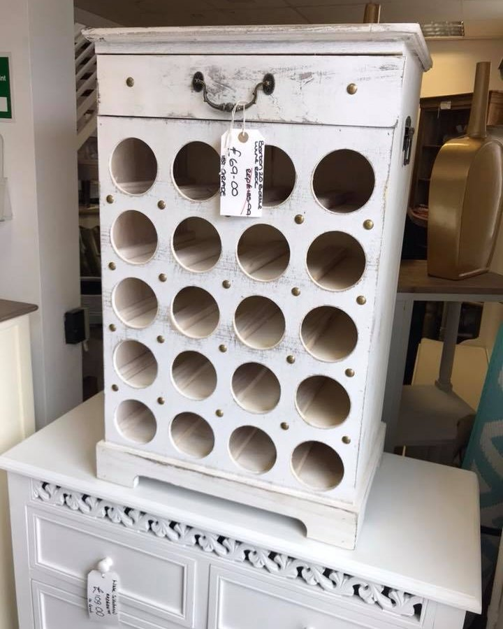 Furnitureoutlet On Twitter White Shabby Chic 20 Bottle Wine Rack 69 Https T Co 8u8yvyesdr Winerack Shabbychic Homeware Homebarinspo