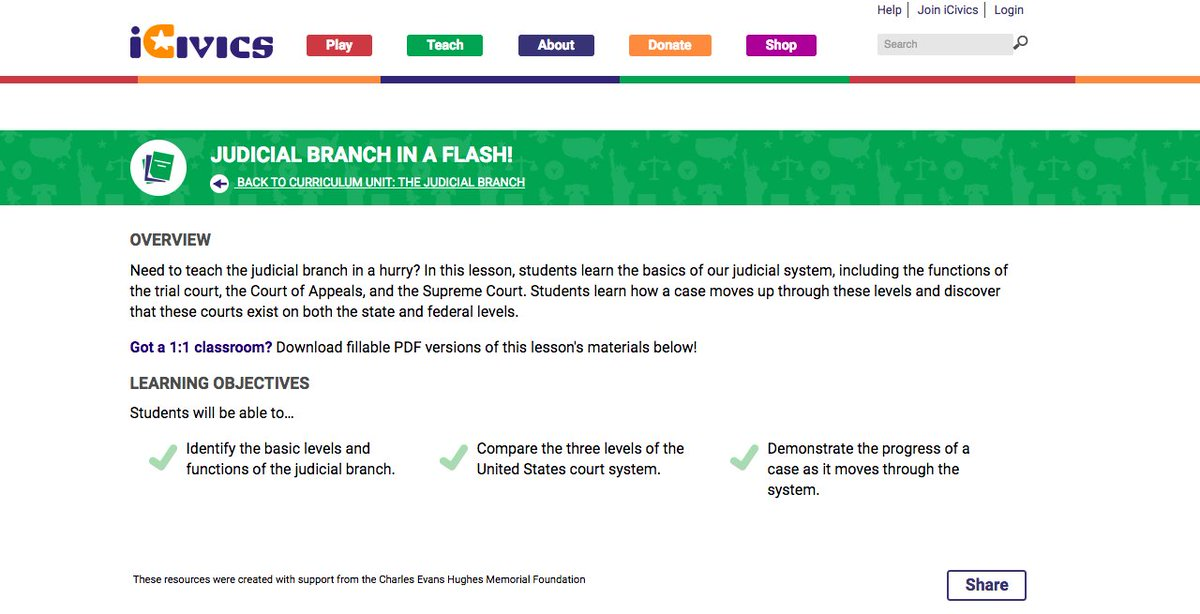 The Judicial Branch Lesson Answer Key - USCIS