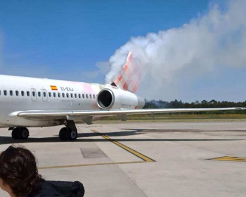 Volotea 717 Fire At OVD