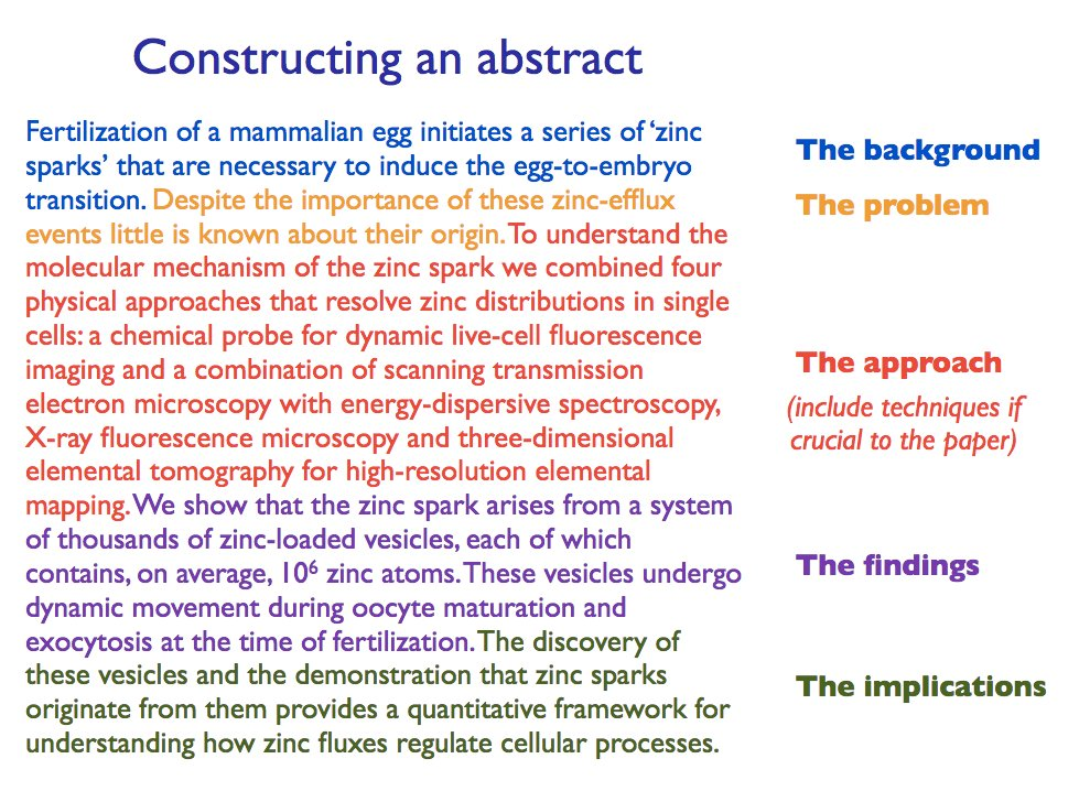 what should an abstract include