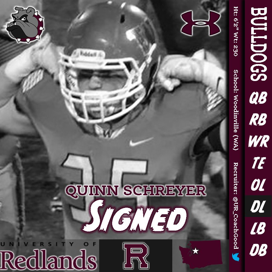 Redlands Bulldog Football On Twitter Please Welcome Quinn Schreyer