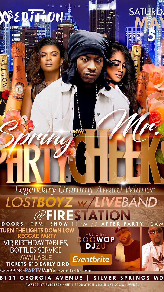 HIP HOP UNFORGETTABLE TOUR presents MR. CHEEKS Lost Boyz LIVE!!! Sat May 5th @ FIRESTATION Silver Spring💥 TURN THE LIGHTS DOWN LOW REGGAE AFTER PARTY 💥 @DjZu007 @djdoowop on the wheels🔥Hosted by @QueenDivinity 💥 @MRCHEEKSLBFAM #LightsCameraAction #PartyWithTheStars BE THERE!!