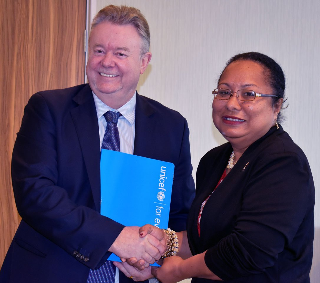 #UNICEF stands committed to supporting the Government of PNG ensure the rights & welfare of PNGs children. New UNICEF Country Representative, David McLoughlin, at the presentation of his credentials to Foreign Affairs Secretary, Barbara Age, to officially take up his post.