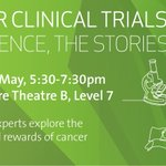 What are the opportunities for cancer clinical trials in Victoria? Hear Prof Grant McArthur @Prof_G_McArthur, Dr Hang Quach @StVincentsMelb, Prof Mark Rosenthal @PeterMacCC and clinical trial patients from St Vincent's & @Western_Health Mon 21 May 5:30pm https://t.co/4UNVVqD4uA