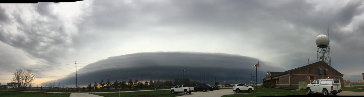 This photo was taken at our office in Valley, NE earlier this evening at 7pm. Quite a view!  #newx #iawx