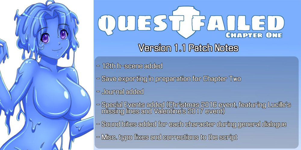 The request button slime girl quest failed chapter