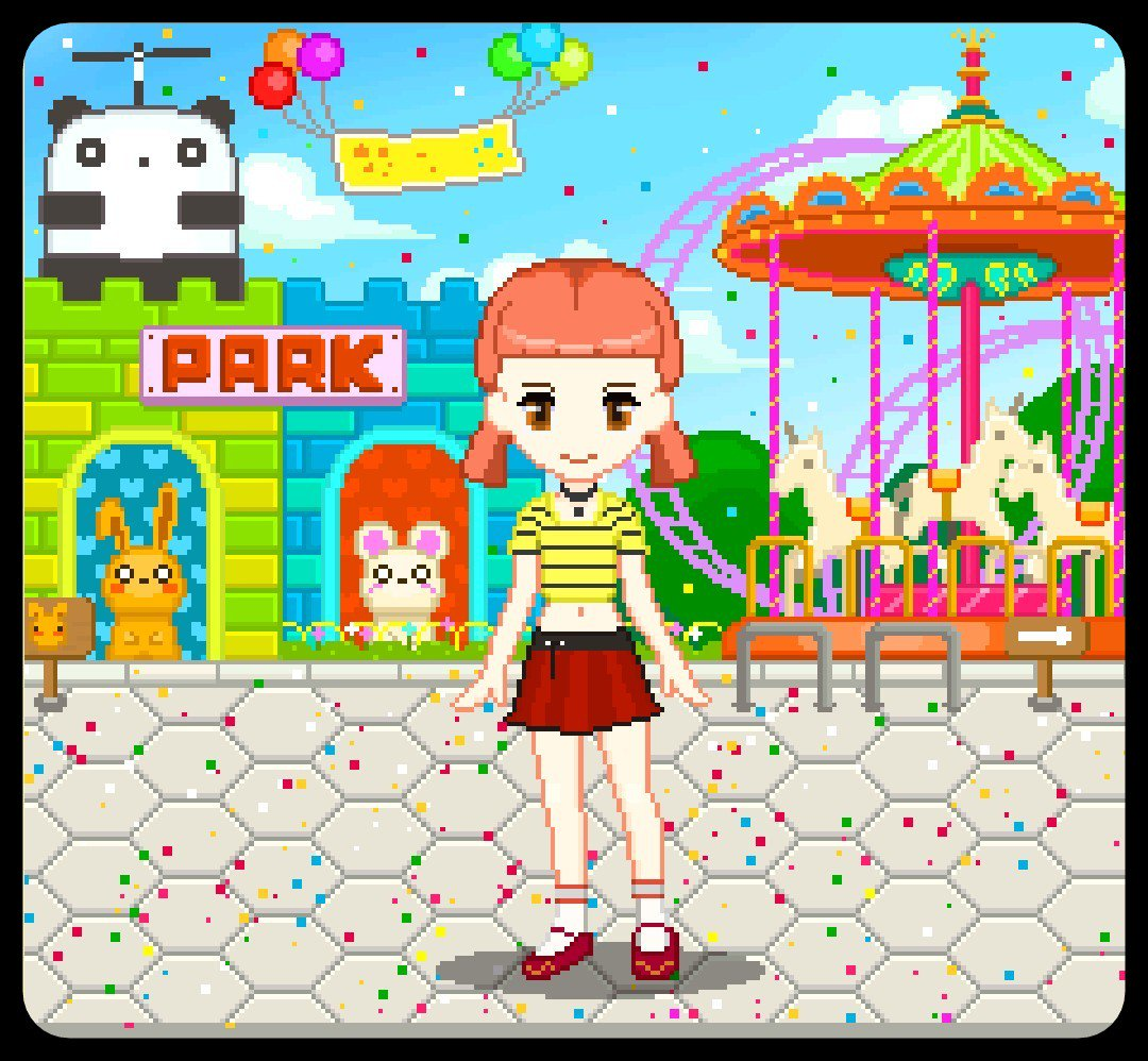 Bean Cute On Twitter Pixel Panda Park Cute Kawaii Pixel