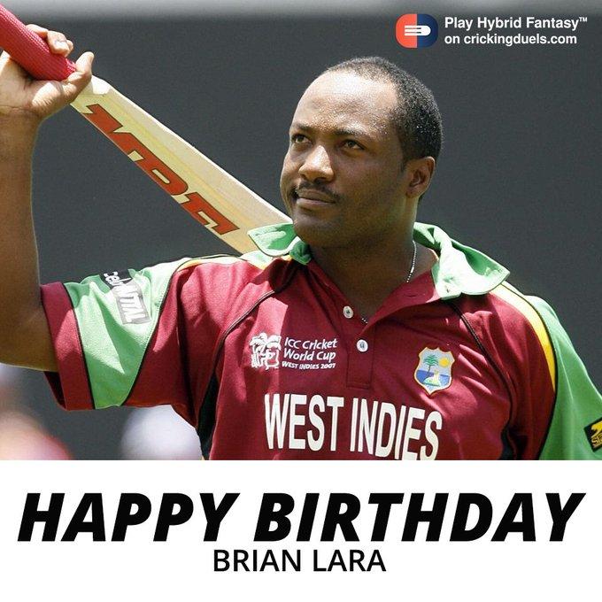 Happy birthday, Brian Lara.