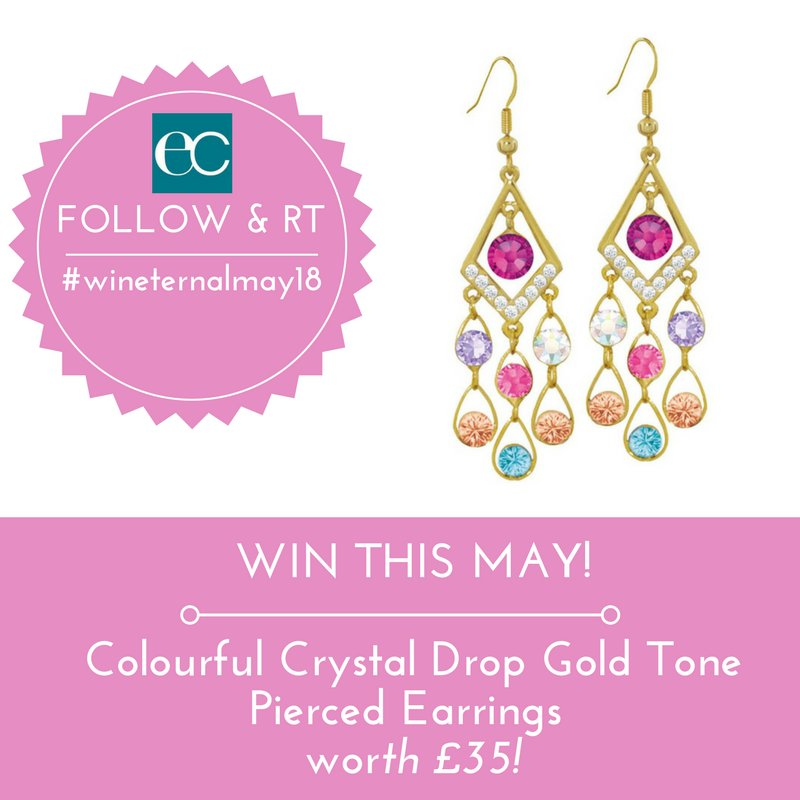 #Win in #May!! Colourful Crystal Drop Gold Tone Pierced Earrings worth £35 Follow / RT to enter UK Only Ends Monday 31st May 2018 Good Luck!! #wineternalmay18 #WinItWednesday