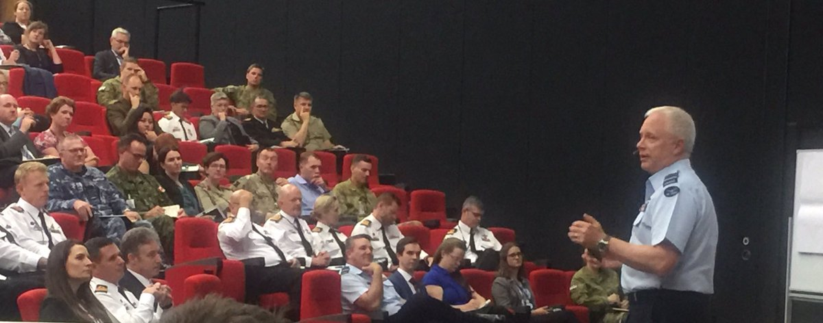 Great to talk about the importance of international engagement across all levels of #yourADF & Defence during a conference at ADFA today