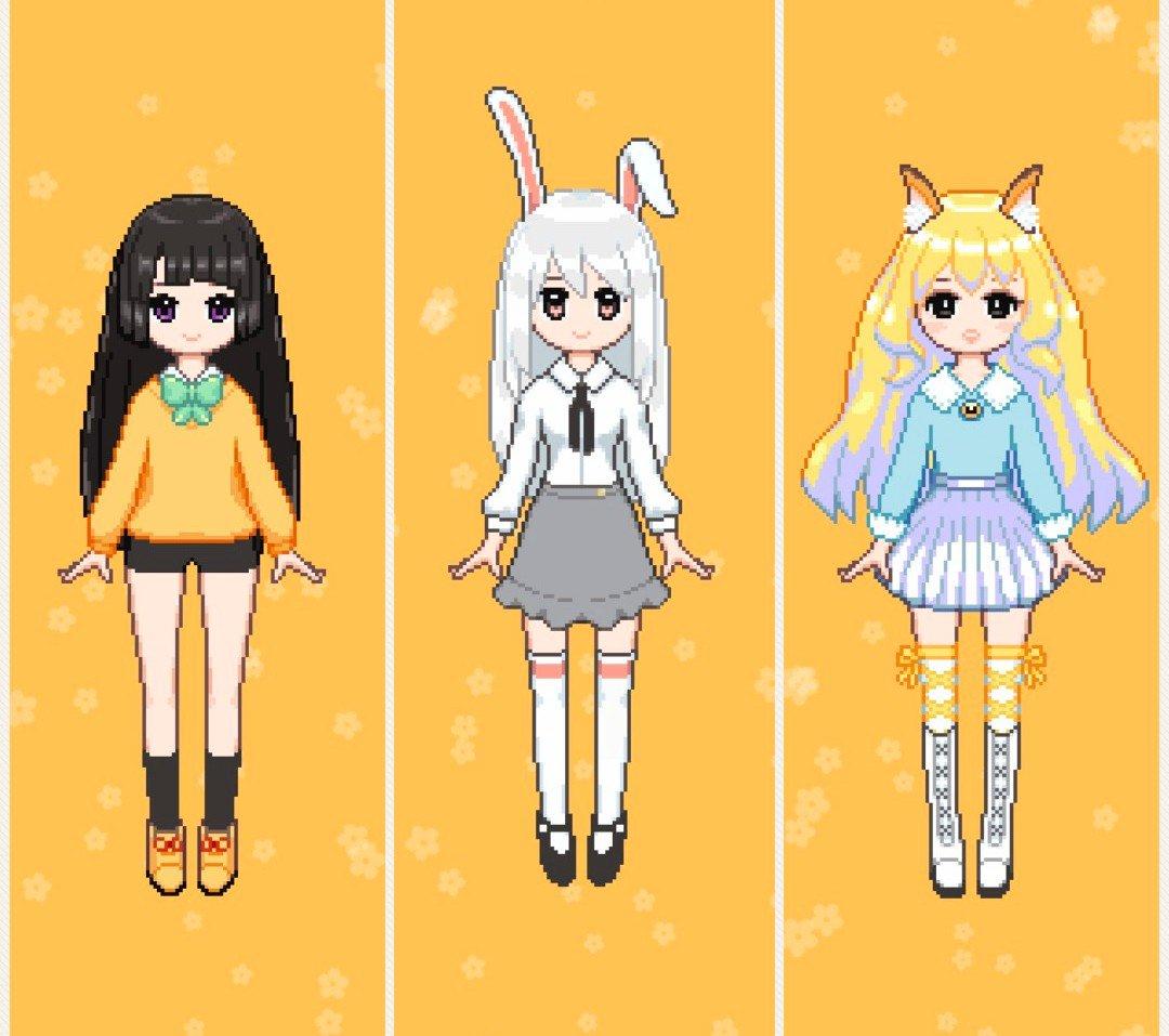 Bean Cute On Twitter Pixel Characters Cute Kawaii Sunny
