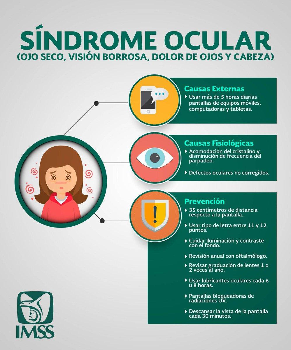 sintomas vista borrosa dolor cabeza