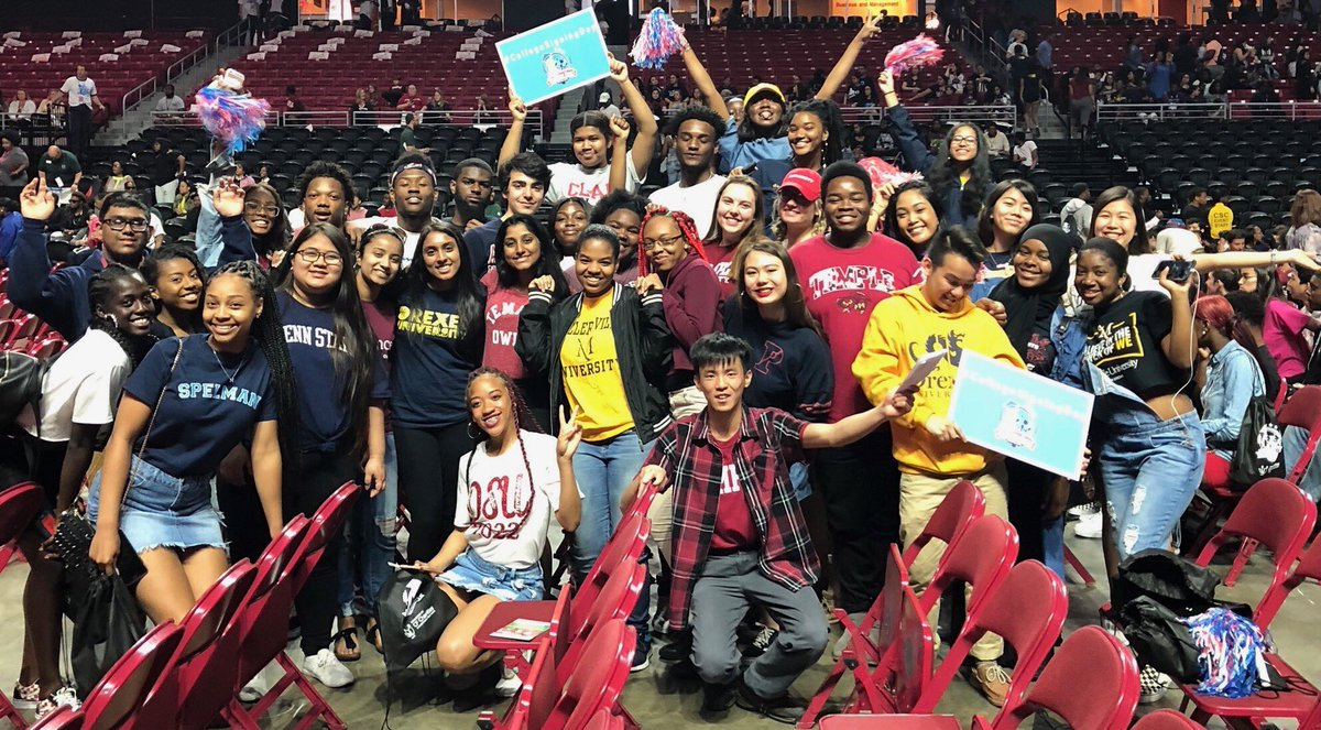 Happy #CollegeSigningDay! So excited to be in Philly to celebrate all the young people making the commitment to higher education.