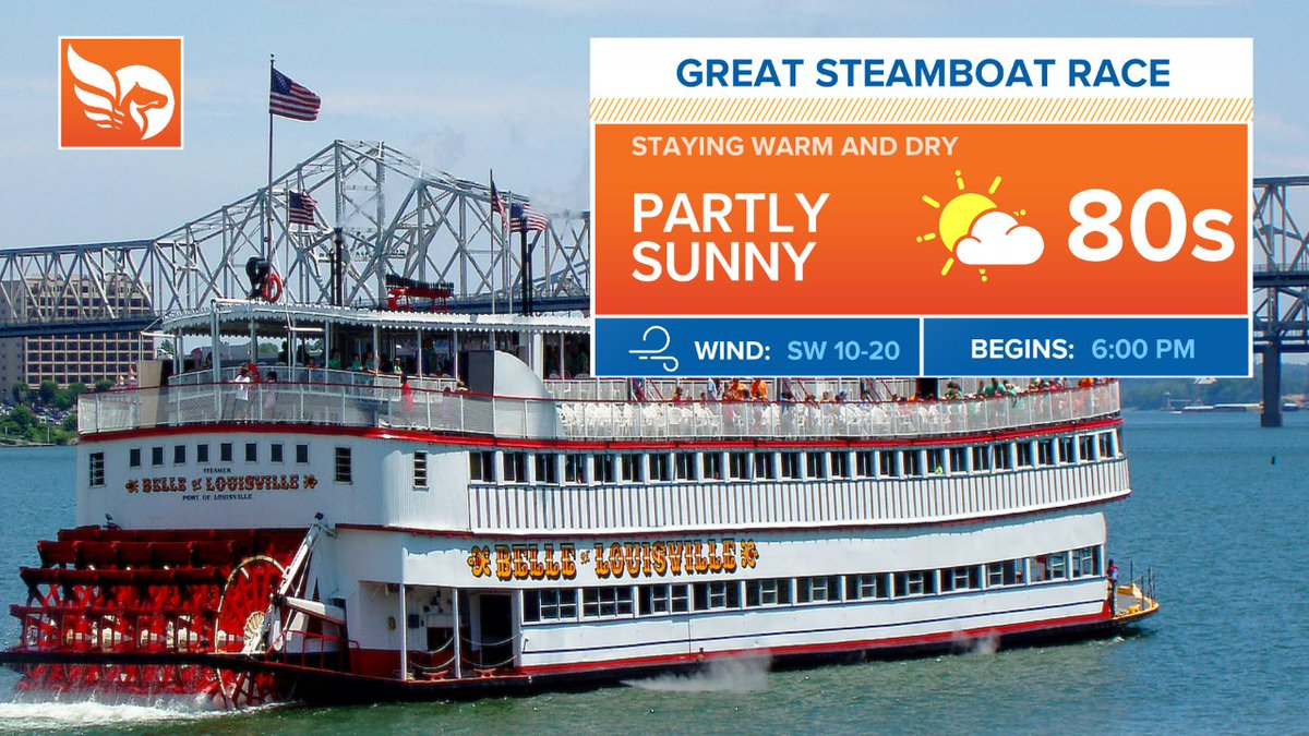 Great weather for today's Great Steamboat Race! Grab your shades and make it a great day #Kentuckiana 😎 @whas11