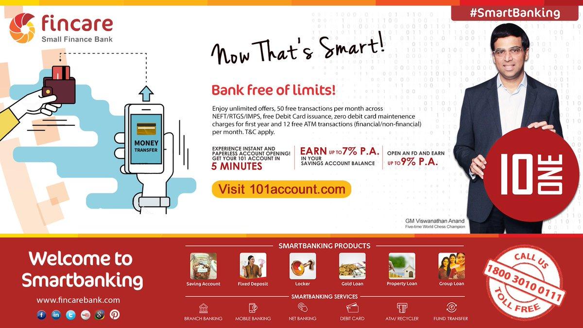 "Brilliant Smart Bank Ideen Von Fincare Sfb On Twitter: ""now That"