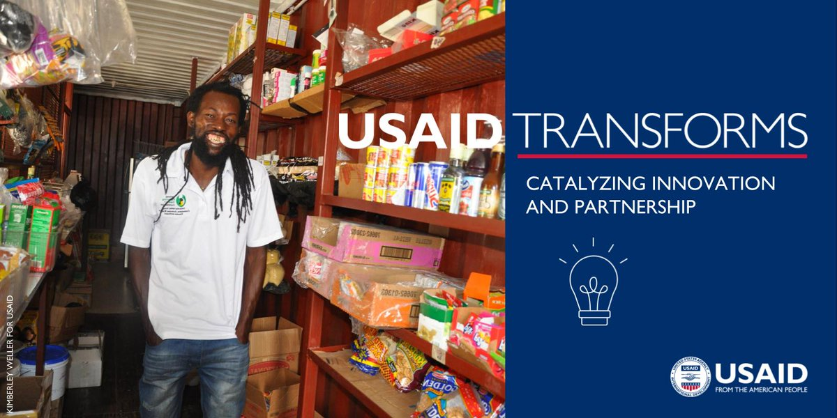 #USAIDTransforms by catalyzing enterprise-driven development and innovative solutions to development challenges.