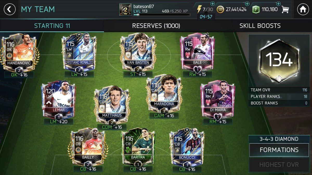 764d29d27 Also a few changes to the team this week. Griezmann 120 gone (out into VB)  and TOTY De Gea put into VSA Handanovicpic.twitter.com cl5C81u1MJ