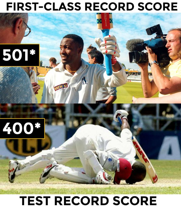 No one can ever dream of touching these records nowadays. Happy birthday to the legendary Brian Lara.