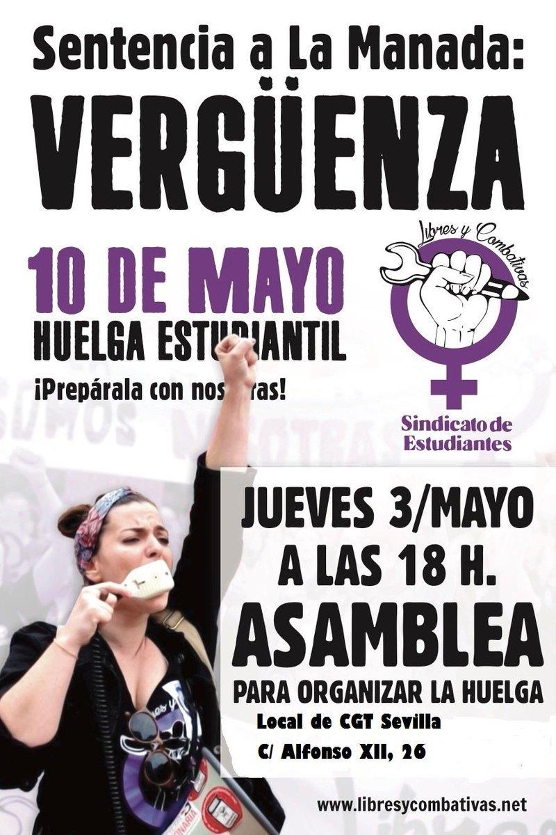 Resultado de imagen de HUELGA FEMINISTA 10 DE MAYO SENTENCIA