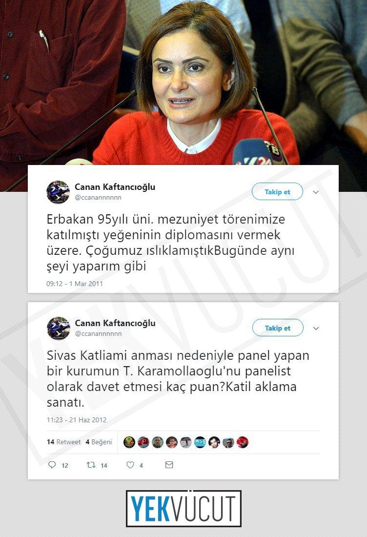 """Yekvücut on Twitter: """"CHP İl Başkanı Canan Kaftancıoğlu'nun partisinin ittifak kurduğu Saadet Partisi Genel Başkanı Temel Karamollaoğlu'na """"katil"""" dediği ortaya çıktı.… https://t.co/l3OzeIme00"""""""