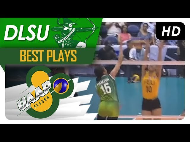 WATCH! Tin Tiamzon destroys the FEU wall with a booming hit. #UAAPSeason80Volleyball   🎥: https://t.co/PueJyOk2UE