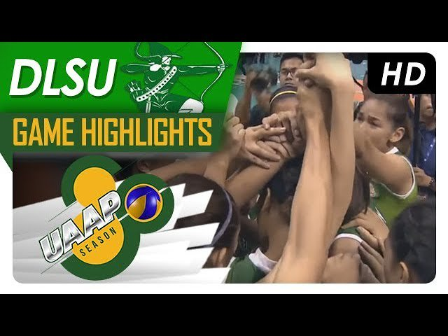 WATCH! Three-peat moment for the DLSU Lady Spikers. #UAAPSeason80Volleyball   🎥: https://t.co/avMANi1ufM