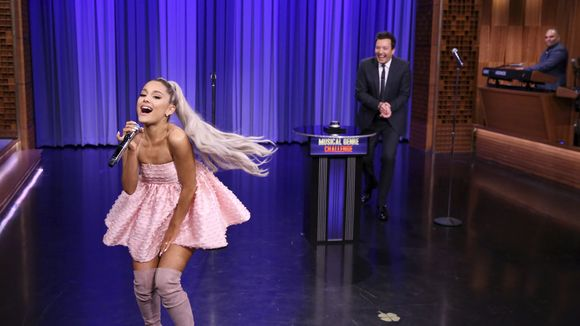 'The Tonight Show' was all about Ariana Grande. https://t.co/sIEt7FrBkR #ArianaOnFallon (Photo: NBC)