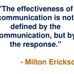 Image for the Tweet beginning: Great communicators know the difference