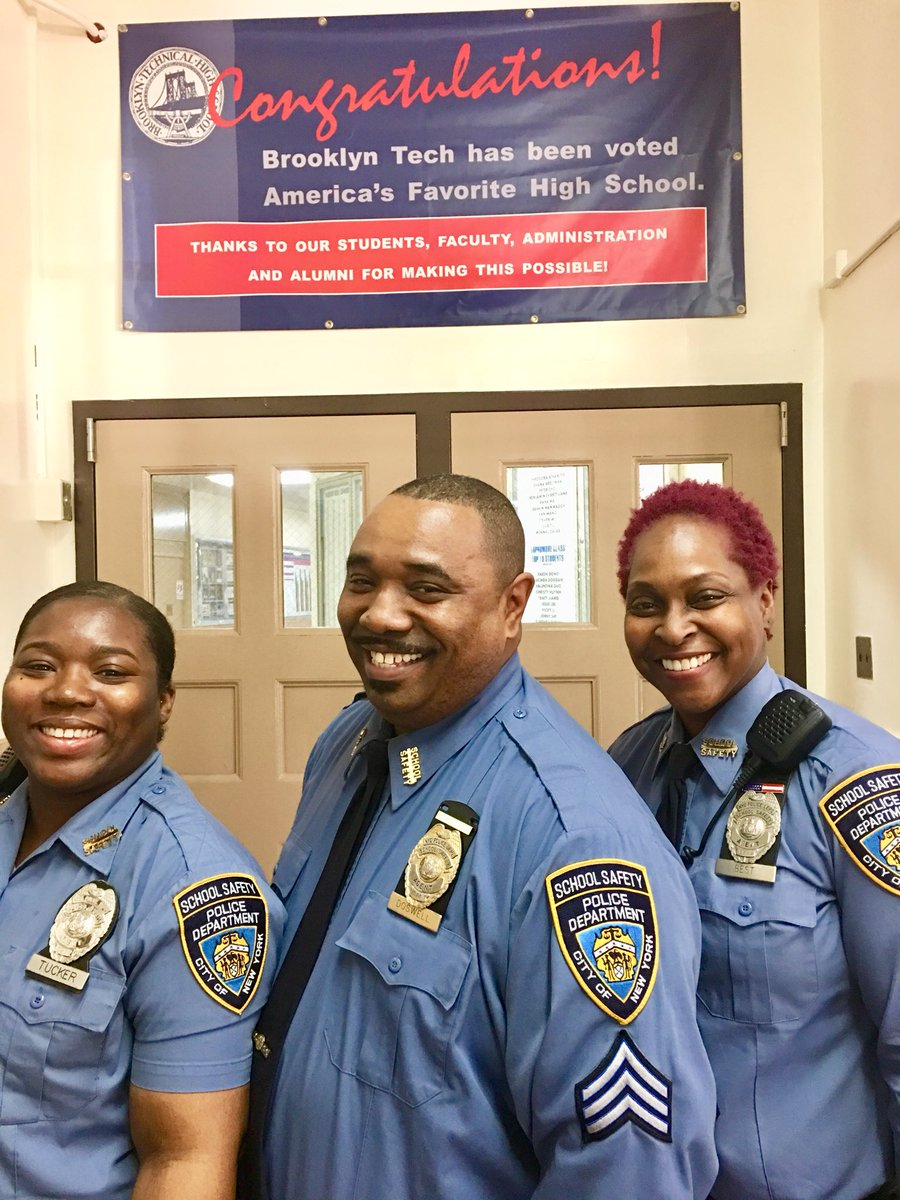 We thanks NYPD School Safety Agents Doswell, Tucker & Best for being part  of the reason why Brooklyn Tech HS is one of America's favorite high ...