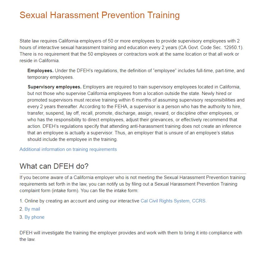 How To File A Sexual Harassment Complaint In California