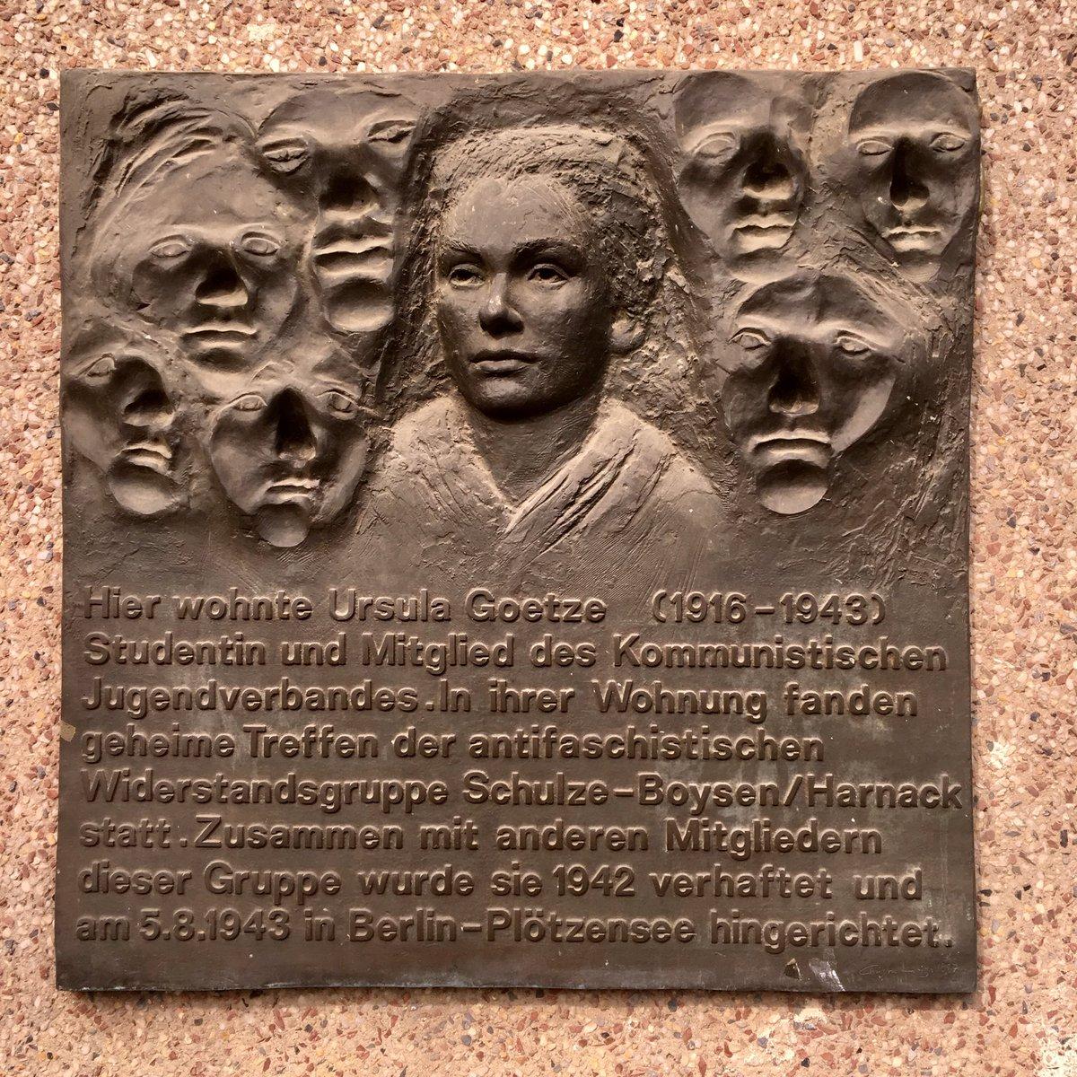 Ursula Goetze (1918-1943) communist militant executed by the nazis. #UrbanSkin #UrbanMemories #Kreuzberg #Hornstraße https://t.co/gRk8DZAp9o