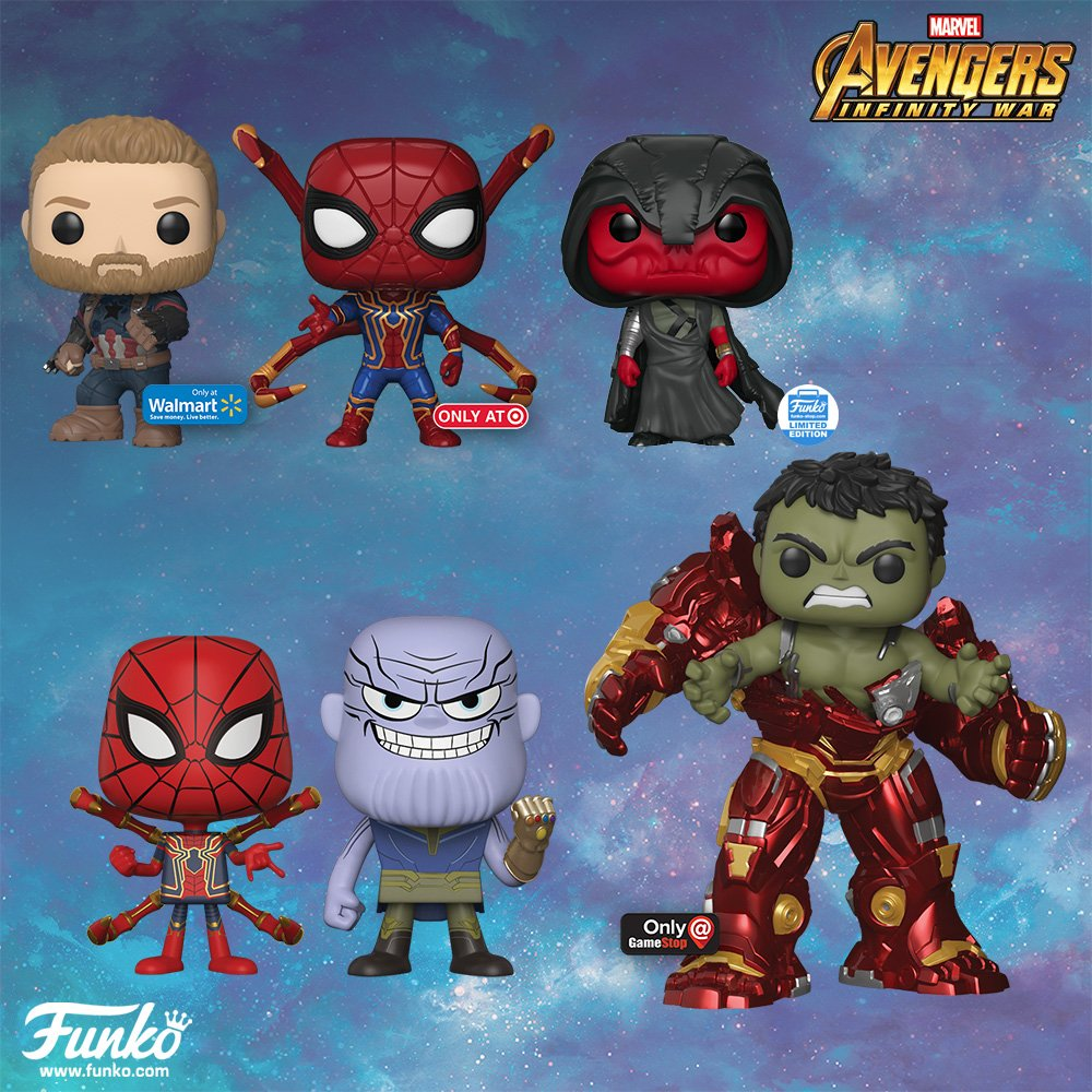 Avengers Infinity War Funko Pops Feature Iron Spider