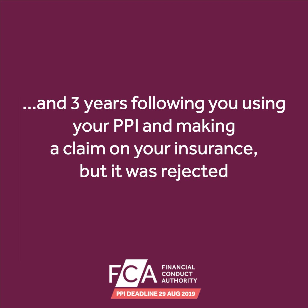 The fca ppi deadline ppifca twitter provider about ppi you may need to make a complaint before 29 august 2019 find out more here httpsgooznkhyv picitterulqb9ykyd0 solutioingenieria Gallery