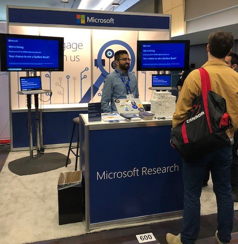 microsoft research on twitter we re hiring come by booth 600 at