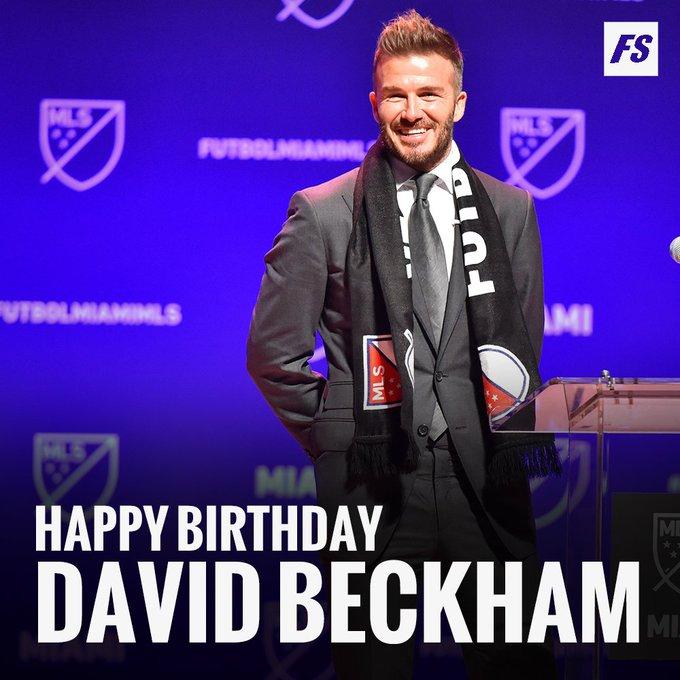 Happy 4  3  rd Birthday David Beckham!