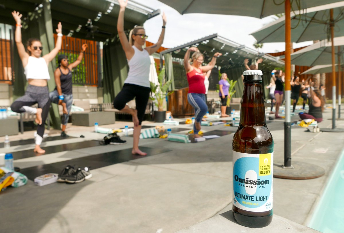 Yoga class? I thought you said pour a glass 🍺 #omissionbeer #instagood #craftbeer #instabeer #beerlover #glutenremoved #ultimatelight #hoppybeer #summer #gluten #lowcarb #lowcalorie #vegan #yoga #activelifestyle https://t.co/w3NwhWEOet