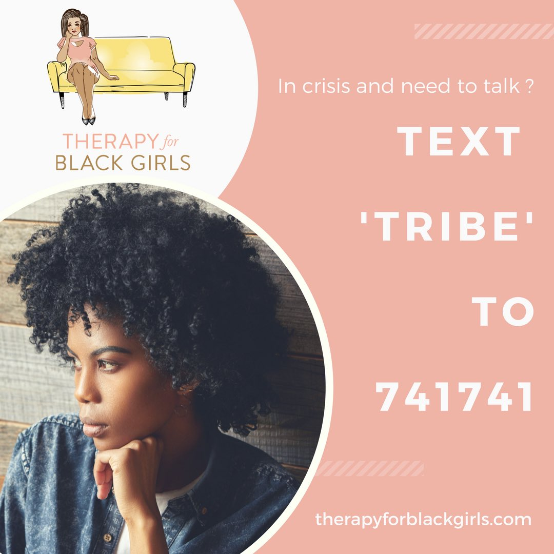 Need To Chat You Can Now Use The Official Therapy For Black Girls Keyword To Text With A Trained Crisis Counselor From Crisistextline Free To Use And