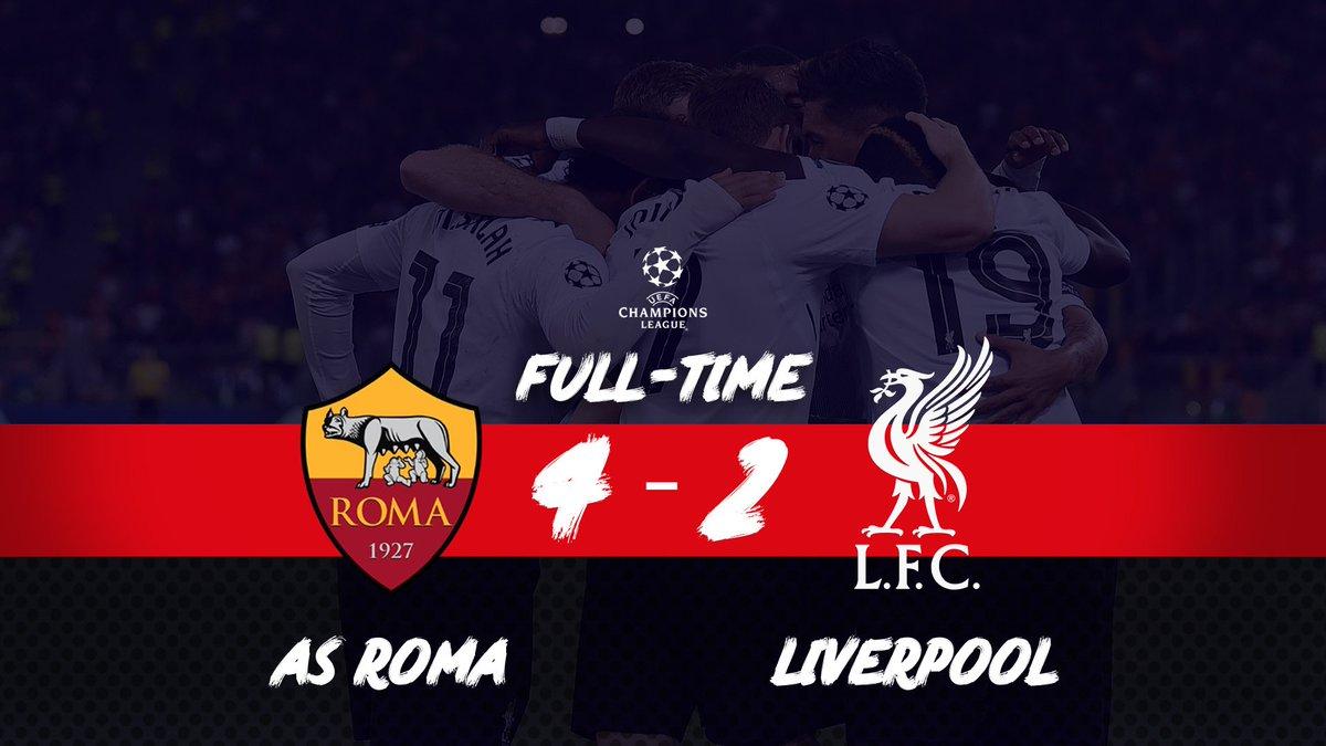 Chấm điểm kết quả AS Roma 4-2 Liverpool