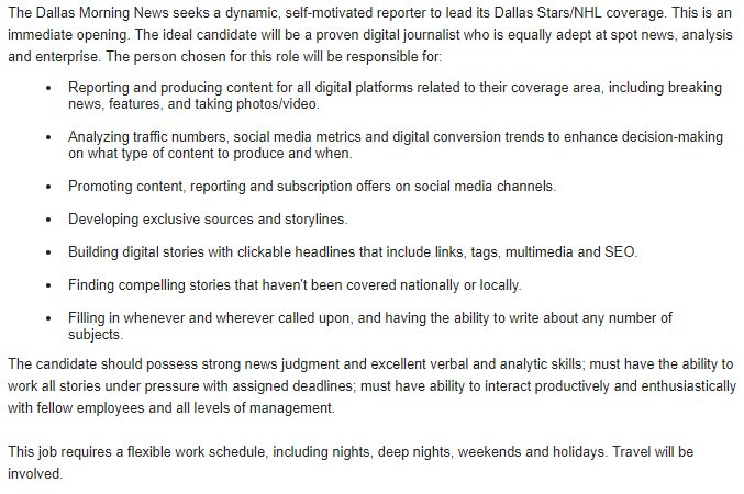 Scott Bell On Twitter Job Posting Alert We Re Hiring A Dallas