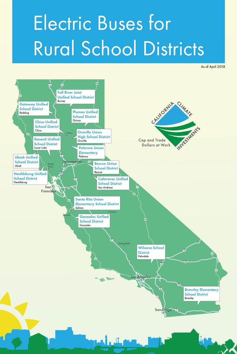 School Districts In California Map.Carb On Twitter Capandtrade Is Bringing Electric School Buses