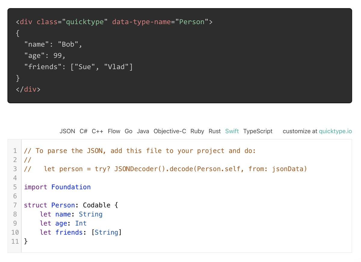 convert json data to string swift ▷▷ a c i