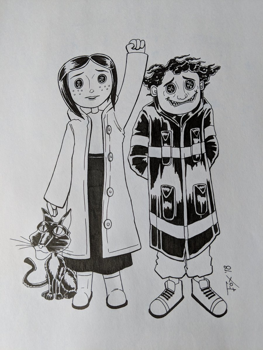 Alien Dougiecomics On Twitter Day 2 Coraline Of Monstermayi2018 With Wybie Cat Now Time For Monstermayikids Goosebumps Sketch Coraline Fanart Neilgaiman Https T Co Atbjnw7gfy