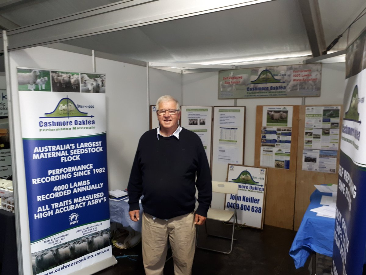 Agfest Tasmania. Come and talk Self Replacing Maternal sheep at 1st Avenue 109-9. Regards John Keiller