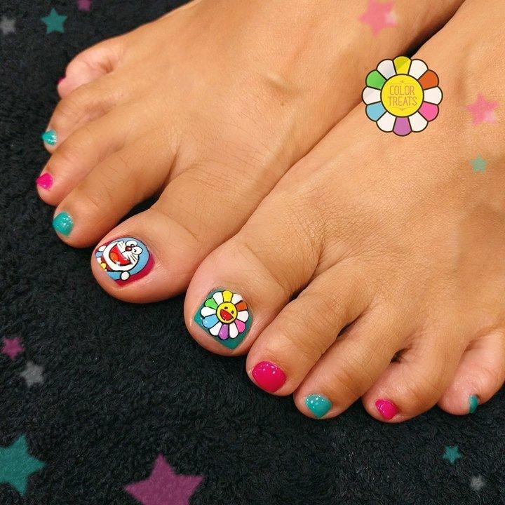 Color Treats On Twitter Doraemon Murakami Nails Nailart