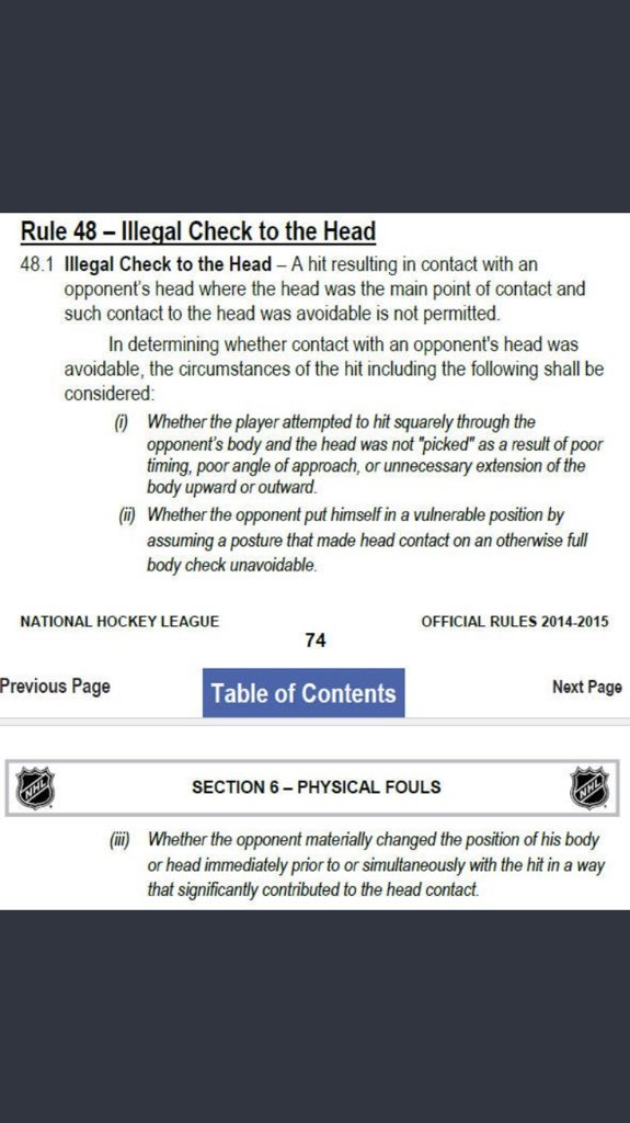 Brendan Witt On Twitter You Might Want To Read The Rule Book By