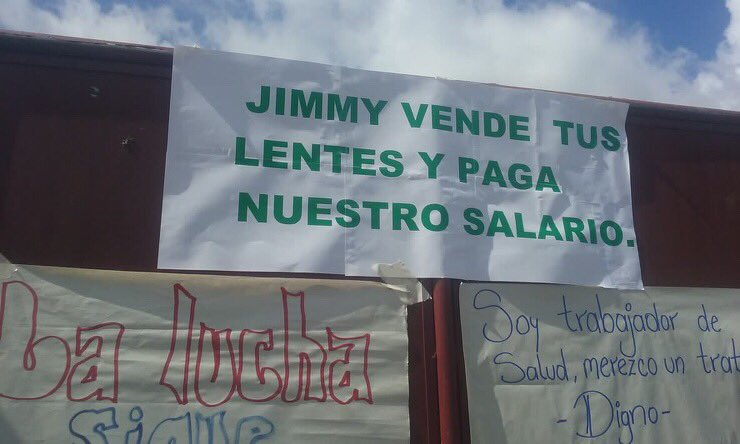 Personal de salud: 'Jimmy vende tus lentes y paga nuestro salario' - https://t.co/CqNqwLnrOe https://t.co/HCZqIgDPiI