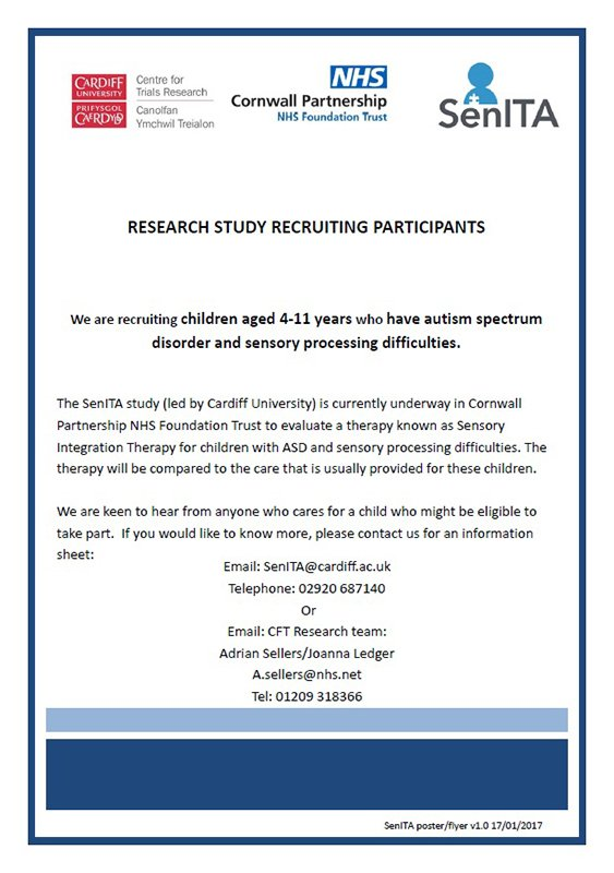 Autism Study Links Sensory Difficulties >> Cornwall Foundation Pa Twitter Research Study Recruiting