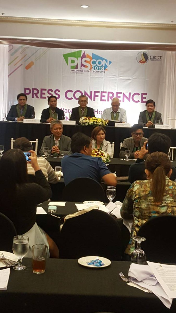 Look Piscon 2018 Press Conference At Waterfront Hotel Cebu City Del Release With Dict Oic