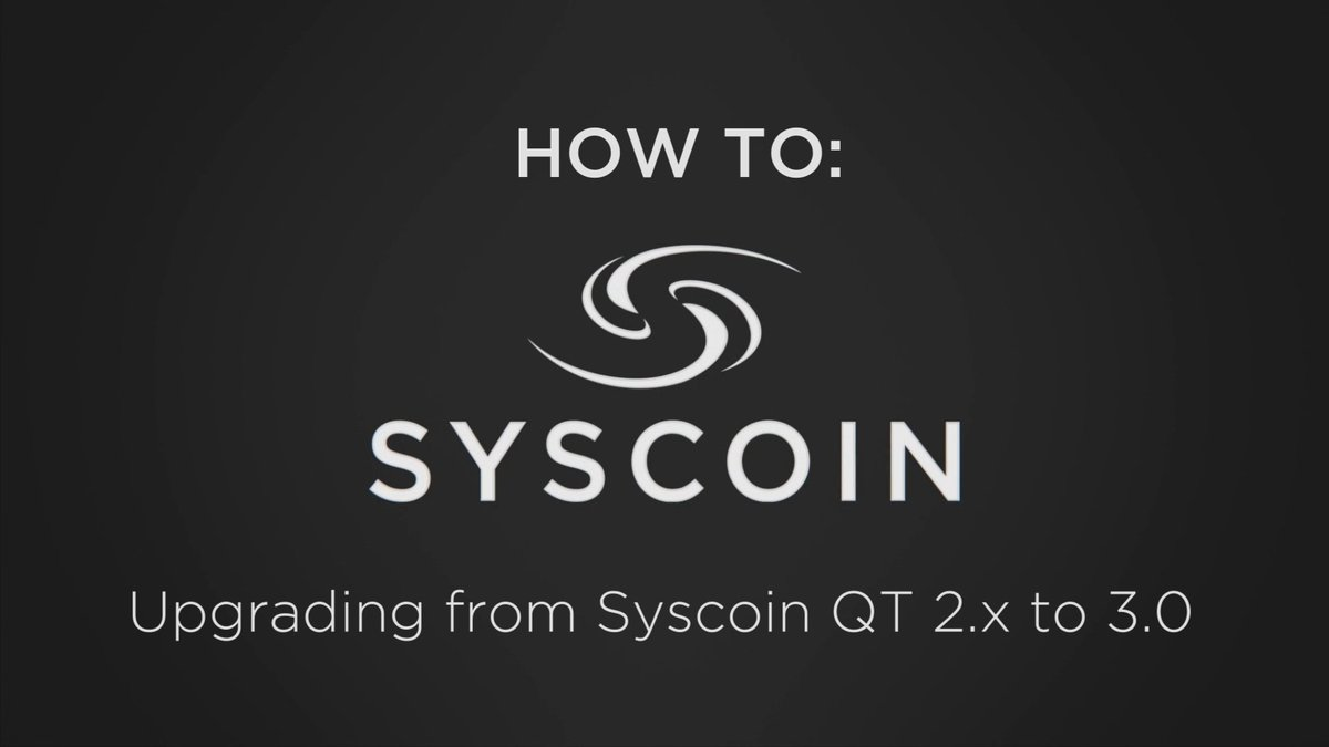 How To Upgrade From Syscoin 2